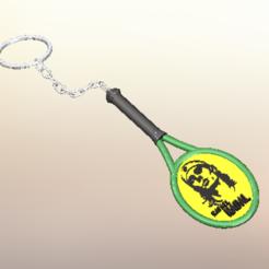 RN 1.PNG Télécharger fichier STL Porte-clés Rafael Nadal • Modèle pour impression 3D, AmeerSohail17