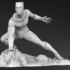 marvel-black-panther_980x500.jpg Download STL file Black Panther • 3D printer template, Rodman3D