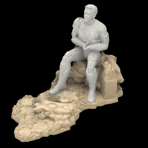 Download STL file The Defeated Iron Man • 3D printable model, Rodman3D