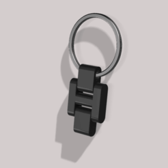 7.png Download STL file Hinged key ring attachment • 3D printable template, 3DModels