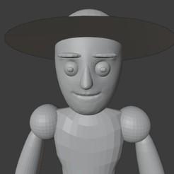 22222222222.jpg Télécharger fichier STL figure de base monsieur avec chapeau • Objet imprimable en 3D, sara0x0