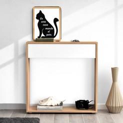 gato3.jpg Download STL file table 2d cat • 3D printer design, schwemmergisela