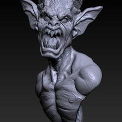 demon bust 1.jpg Download STL file Demon bust • 3D printing object, i3Dfab