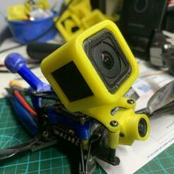 IMG_4857.jpg Download free STL file GoPro Hero Session 5 camera mount protector for FPV Hole distant 24-28mm • Design to 3D print, johnlamck