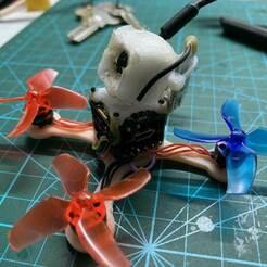 IMG_3865.jpg Download STL file FPV drone quad frame 75mm (40mm Propeller, 0802 motor 3 holes) 16x16mm Flight Controller • Object to 3D print, johnlamck