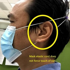 IMG_2578.jpg Download STL file Ear saver mask hook with inner hair clip keep at high level of head. • 3D printing object, johnlamck