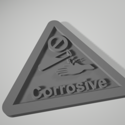 corrosive_warning_notice_plate.PNG Download free STL file Corrosive warning notice plate • 3D printer design, johnlamck