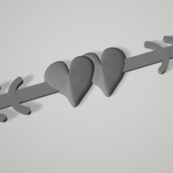 Mask hook 2 hears.PNG Download STL file Mask hook 2 hearts connected have 2 version long and short • 3D printer object, johnlamck