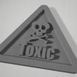 Toxic_warnning_notice_plate.PNG Download STL file Toxic warning notice plate ( Poison) • 3D printer design, johnlamck