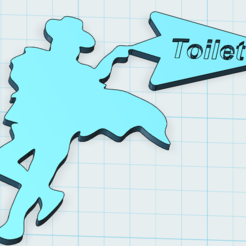 Michael Jackson toilet direction sign 1.PNG Download free STL file Toilet direction sign • 3D printable model, johnlamck