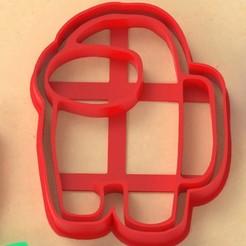 among us personalizados.jpg Télécharger fichier STL Parmi nous 1 • Objet à imprimer en 3D, Ufo_Cortantes