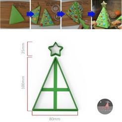 arbol 1.jpg Télécharger fichier STL Étoile de sapin de Noël, 2 emporte-pièces • Modèle à imprimer en 3D, Ufo_Cortantes