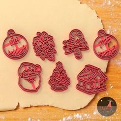 navidad1.jpg Télécharger fichier STL 7 emporte-pièces pour les biscuits de Noël • Objet à imprimer en 3D, Ufo_Cortantes