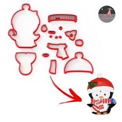 pingu.jpg Download STL file Penguin christmas Fondant cookie cutter clay • 3D printer object, Ufo_Cortantes