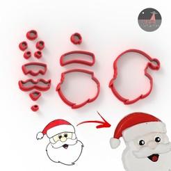 papanoel.jpg Download STL file CHRISTMAS Santa fondant, cookie cutter, clay cutter • 3D print model, Ufo_Cortantes