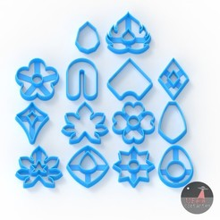 clay cutters.131.jpg Download STL file 14 Clay fondant cookie cutters - Clay fondant cookie cutters (forms, shapes) • 3D print model, Ufo_Cortantes