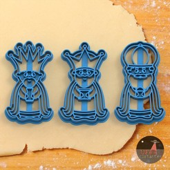 reyes.152.jpg Download STL file 3 THREE WISE MEN cookie cutters • 3D print object, Ufo_Cortantes