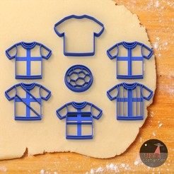 fulbito.jpg Download STL file CUSTOMIZABLE FOOTBALL COOKIE CUTTERS (SOCCER) • 3D printer model, Ufo_Cortantes