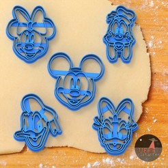 Mickey and friends.jpg Download STL file cookie cutter (DISNEY - MICKEY - MINNIE) • 3D printable object, Ufo_Cortantes