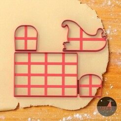 WhatsApp Image 2020-12-19 at 19.37.41.jpeg Download STL file Santa's sleigh - Santa Cookie cutter clay form • 3D printer template, Ufo_Cortantes