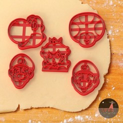 mario bros.jpg Download STL file 5 Cookie cutter Mario Bros • 3D printer object, Ufo_Cortantes