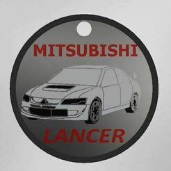 Captura.JPG Download free STL file Mitsubishi lancer keychain • Template to 3D print, Turbo3D
