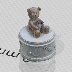 1.JPG Download STL file Little bear figurine • 3D printable template, Turbo3D