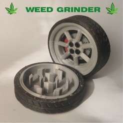 00 1AG.jpg Download STL file Grinder weed racing. • Template to 3D print, Turbo3D