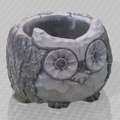 3.JPG Download STL file Owl pot no support • Object to 3D print, Turbo3D