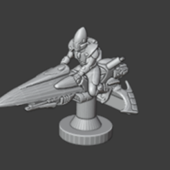 jet bike.PNG Download free STL file 6mm space elf biker • 3D printable design, QM3D