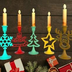 ch1.jpg Télécharger fichier STL Bougeoir : Set de Noël • Modèle imprimable en 3D, M3DLOCKER