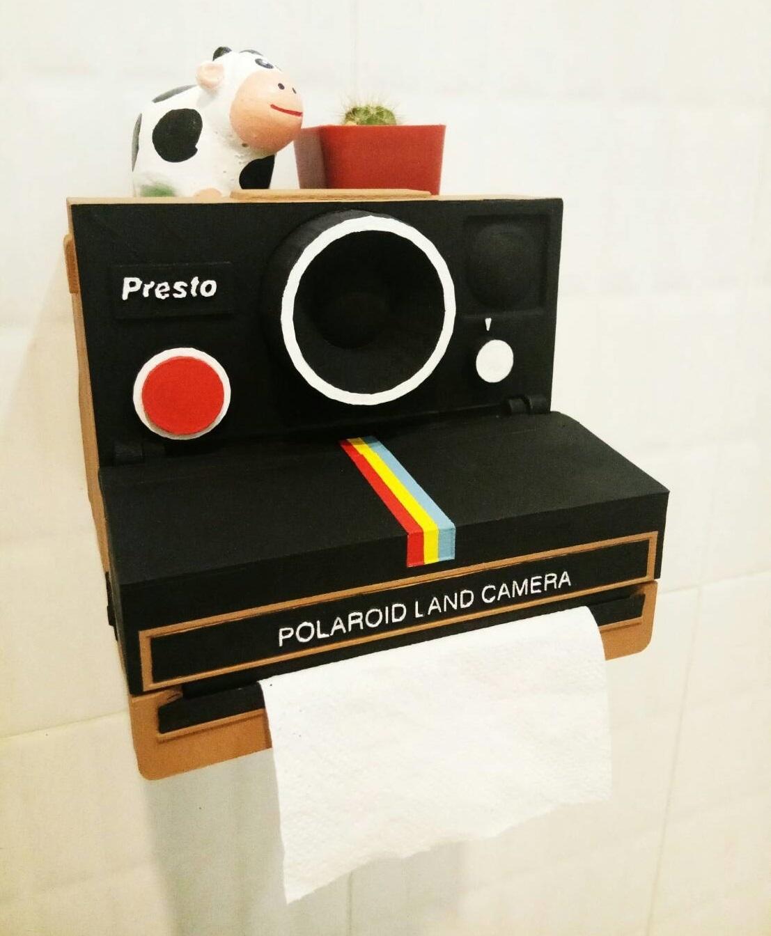 p.jpg Télécharger fichier STL Porte-papier hygiénique Polaroid (couvercle*) • Design pour impression 3D, M3DLOCKER