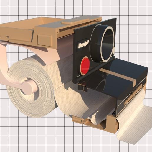 6.jpg Télécharger fichier STL Porte-papier hygiénique Polaroid (couvercle*) • Design pour impression 3D, M3DLOCKER