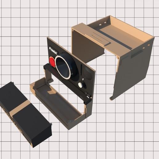 1.jpg Télécharger fichier STL Porte-papier hygiénique Polaroid (couvercle*) • Design pour impression 3D, M3DLOCKER