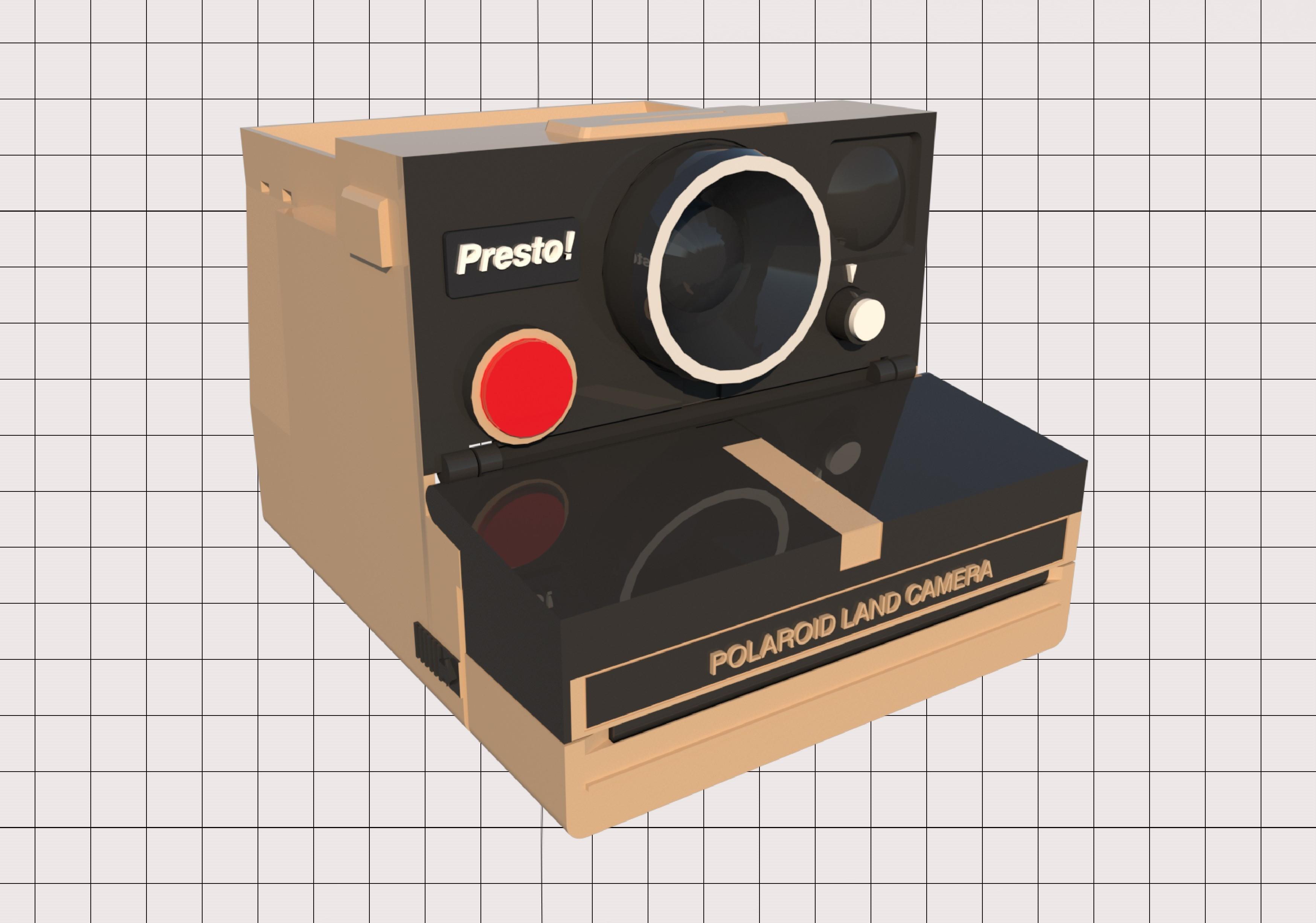 3.jpg Télécharger fichier STL Porte-papier hygiénique Polaroid (couvercle*) • Design pour impression 3D, M3DLOCKER