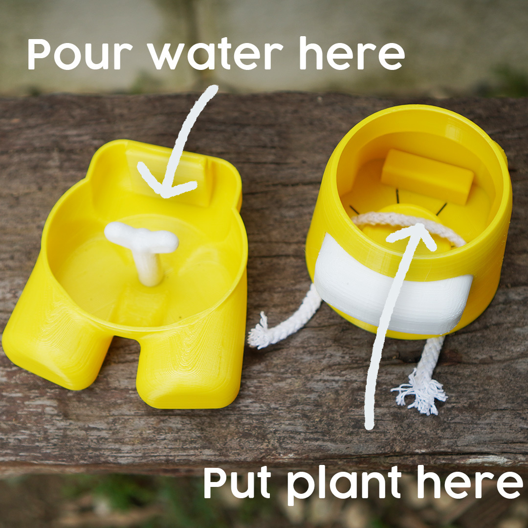 put plant.jpg Descargar archivo STL Entre nosotros Plantador de auto-riego • Objeto para imprimir en 3D, JoshuaDomiel