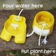 put plant.jpg Download STL file Among Us Self Watering Planter • Object to 3D print, JoshuaDomiel