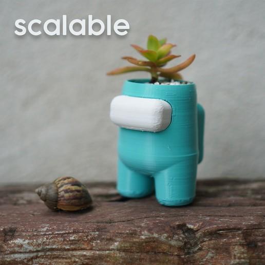 scalable.jpg Descargar archivo STL Entre nosotros Plantador de auto-riego • Objeto para imprimir en 3D, JoshuaDomiel