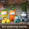 1.jpg Download STL file Among Us Self Watering Planter • Object to 3D print, JoshuaDomiel