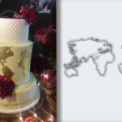 Mapa Mundi final.png Télécharger fichier STL Fondateur et coupeurs de biscuits - Thème de la carte du monde • Objet pour imprimante 3D, Jean_Nascimento