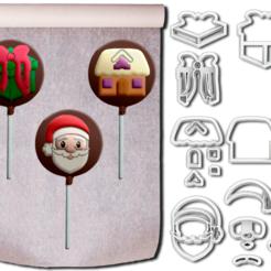 Kit Natal 3 ML.png Download STL file Christmas cutters - 3 models • 3D printable design, Jean_Nascimento