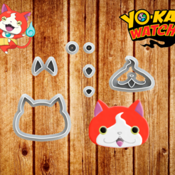 Yokai Final.png Download STL file Fondant and Biscuit Cutter - Yokay Theme • 3D printer object, Jean_Nascimento