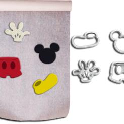 Kit Mickey 5cm - ML.png Télécharger fichier STL Pâte à sucre (Fondant) et coupeurs de biscuits - Thème Mickey • Design pour impression 3D, Jean_Nascimento