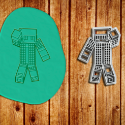 Minecraft 80.png Download STL file Cookie Cutter or Sugar Paste Cutter - Minecraft Theme • 3D printable template, Jean_Nascimento