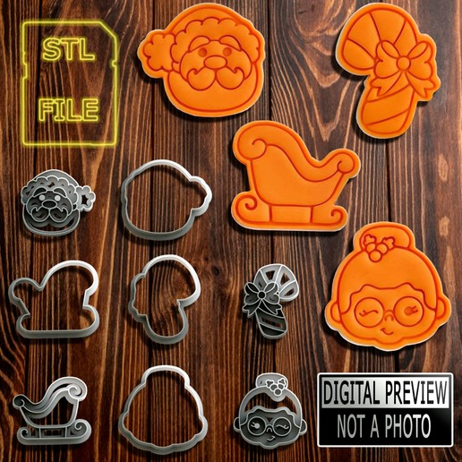 Natal Marcadores Mod 2(Final).jpg Download STL file [10% OFF] COOKIE CUTTERS - 4 MODELS - CHRISTMAS THEME • 3D printing template, Jean_Nascimento