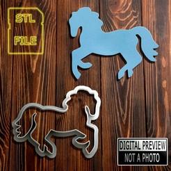 Cavalo 8cm(Final).jpg Download STL file [50% OFF] COOKIE CUTTER - HORSE MODEL • 3D print design, Jean_Nascimento