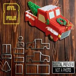 Caminhonete (Final).jpg Download STL file [50% OFF] Cookie Cutter - 3D Truck Model • 3D print model, Jean_Nascimento