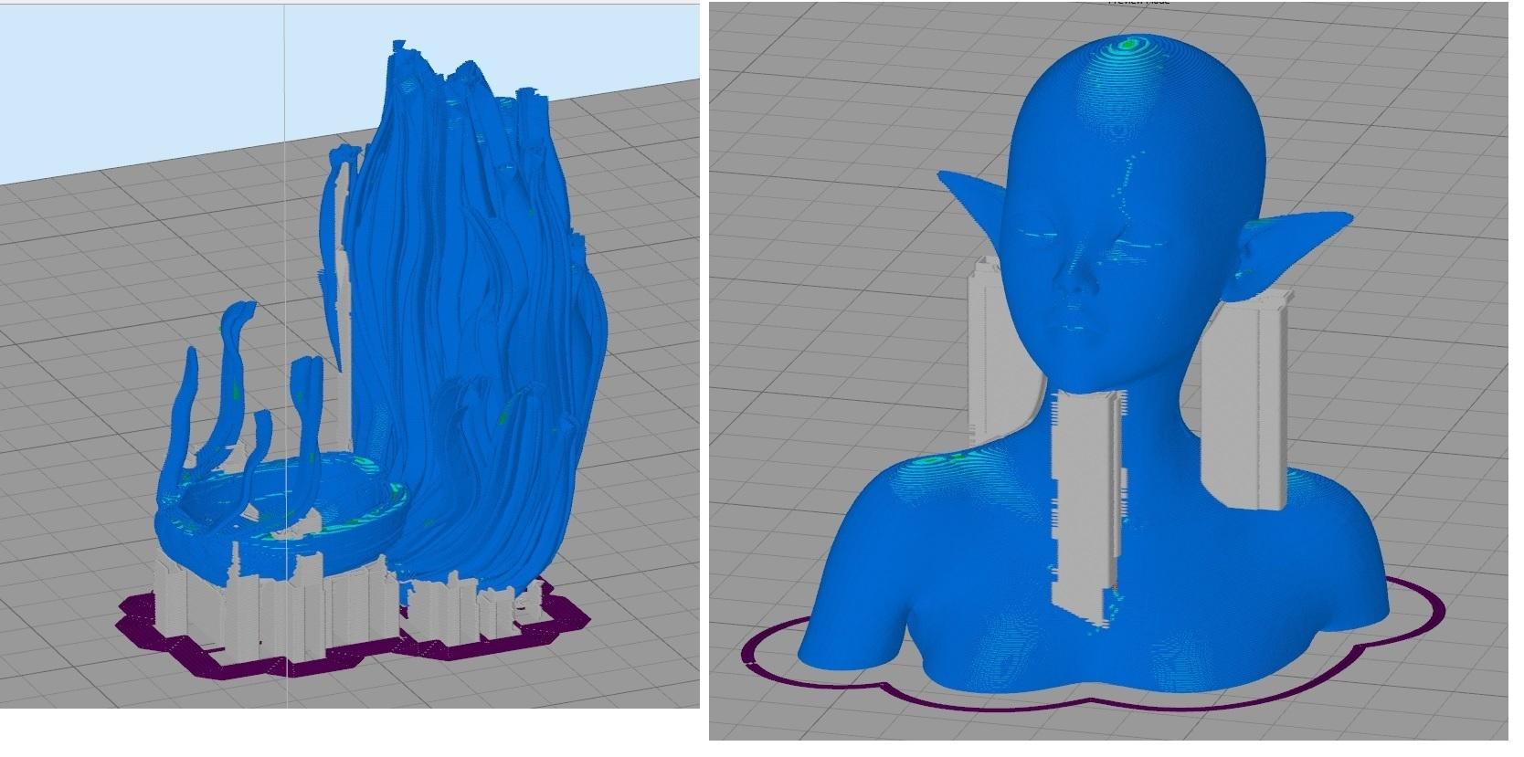 printOrientation.jpg Télécharger fichier STL gratuit Elf Bust - Une expérience pour des parties séparées • Plan pour imprimante 3D, okMOK