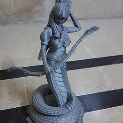 L1.jpg Download 3MF file Lami the Naga Archer • 3D printer object, okMOK