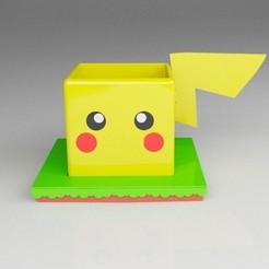 pikachu03.jpg Download STL file Pokemaceta Pika Pika • 3D print model, germanbritez
